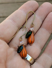Load image into Gallery viewer, Mini gourd pumpkin earrings - II