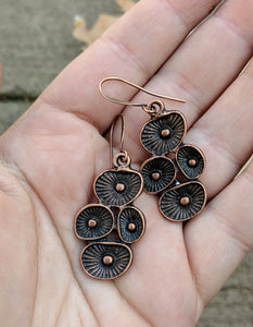 Copper Mushroom Earrings - Minxes' Trinkets
