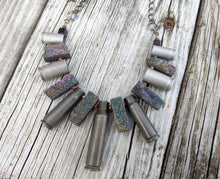 Load image into Gallery viewer, Vintage Bulletcase and Druzy Collar Necklace - Minxes' Trinkets