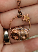Load image into Gallery viewer, Copper Electroformed Mini Pumpkin Necklace 6 - Minxes' Trinkets