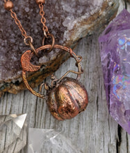 Load image into Gallery viewer, Copper Electroformed Mini Pumpkin Necklace 3