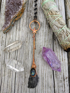 Copper Electroformed Witch Broom Besom 9 - Minxes' Trinkets