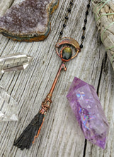 Load image into Gallery viewer, Copper Electroformed Witch Broom Besom 8 - Minxes' Trinkets