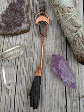 Load image into Gallery viewer, Copper Electroformed Witch Broom Besom 4 - Minxes' Trinkets
