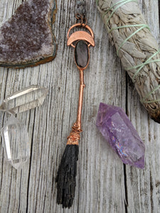 Copper Electroformed Witch Broom Besom 4 - Minxes' Trinkets