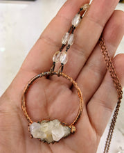 Load image into Gallery viewer, Electroformed Icy Quartz Cluster Necklace - I - Minxes' Trinkets