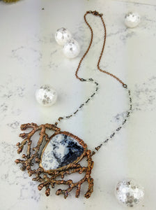Electroformed Winter Branches with Dendritic Opal - 3 - Minxes' Trinkets