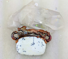 Load image into Gallery viewer, Electroformed Fox with Dendritic Opal Necklace - Minxes' Trinkets