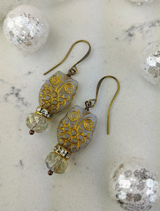 Owl Earrings - Winter White - Minxes' Trinkets