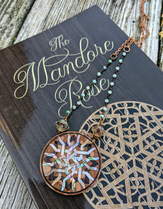Limited Release - Mandore Rose Necklace and Signed Novel Set - 4 - Minxes' Trinkets