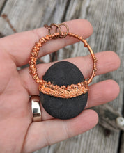 Load image into Gallery viewer, Copper Electroformed Welsh Beach Pebble Worry Stone Necklace IV - Minxes' Trinkets