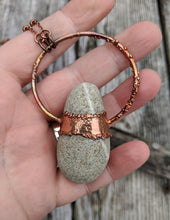Load image into Gallery viewer, Copper Electroformed Welsh Beach Pebble Worry Stone Necklace VII - Minxes' Trinkets