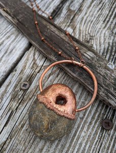 Copper Electroformed Hagstone Necklace II - Minxes' Trinkets