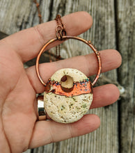 Load image into Gallery viewer, Copper Electroformed Hagstone Necklace IV - Minxes' Trinkets