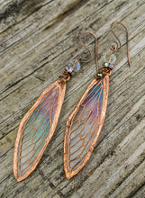 Load image into Gallery viewer, Carnival Row Fairy Wing Copper Electroformed Earrings - Minxes' Trinkets