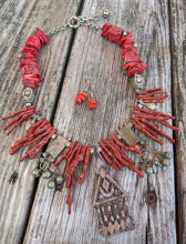Load image into Gallery viewer, CUSTOM for Jerry - coral kuchi necklace - Minxes' Trinkets