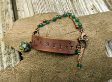 Load image into Gallery viewer, RESIST Wrist Reminder Bracelet - Copper Electroformed - Minxes' Trinkets