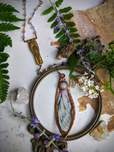 Load image into Gallery viewer, Relic Fairy Wing Rosary Necklace - Resin and Copper Electroformed 11