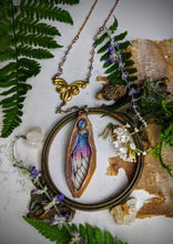 Load image into Gallery viewer, Relic Fairy Wing Rosary Necklace - Resin and Copper Electroformed 18