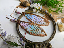 Load image into Gallery viewer, Carnival Row Fairy Wing Copper Electroformed Earrings - 15