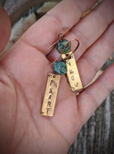Load image into Gallery viewer, Hand Stamped Earrings - Plant & Grow