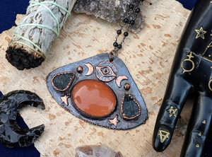 'Eye of Providence' Copper Electroformed Halloween Statement Necklace