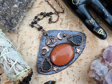 Load image into Gallery viewer, 'Eye of Providence' Copper Electroformed Halloween Statement Necklace