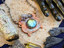 Load image into Gallery viewer, Witch's Cauldron Copper Electroformed Necklace - 1