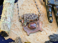Load image into Gallery viewer, Witch's Cauldron Copper Electroformed Necklace - 2