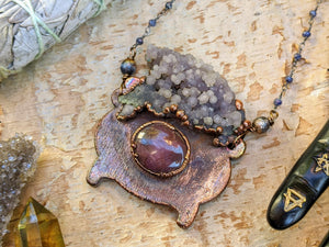 Witch's Cauldron Copper Electroformed Necklace - 2