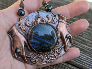 Copper Electroformed Fortune Teller Necklace - 2
