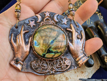 Load image into Gallery viewer, Copper Electroformed Fortune Teller Necklace - 4