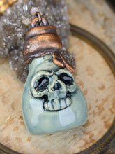 Load image into Gallery viewer, Copper Electroformed Poison Bottle Necklace
