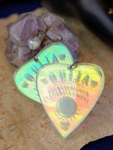 Iridescent Ouija Planchette Earrings - Minxes Trinkets Exclusive - #2