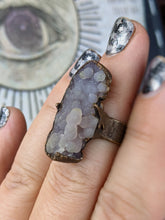 Load image into Gallery viewer, Copper Electroformed Grape Agate Bubbling Ring - Size 6.5