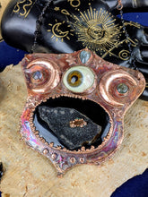 Load image into Gallery viewer, 'Darkness Mutters' Copper Electroformed Halloween Statement Necklace