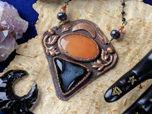 Load image into Gallery viewer, 'October Evenings' Copper Electroformed Halloween Statement Necklace