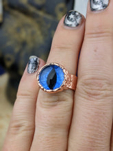 Load image into Gallery viewer, Copper Electroformed Eyeball Ring - Size 6.25 Light Blue