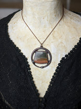 Load image into Gallery viewer, Landscape Jasper Ouroboros Electroformed Necklace