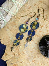"Load image into Gallery viewer, ""Midnight Hour"" Vintage Watch Earrings 3"