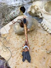 Load image into Gallery viewer, Copper Electroformed Witch Broom Besom Necklace #9