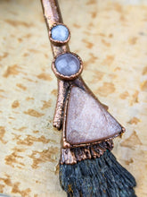 Load image into Gallery viewer, Copper Electroformed Witch Broom Besom Necklace #13