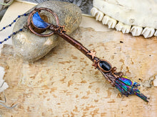 Load image into Gallery viewer, Copper Electroformed Witch Broom Besom Necklace #18