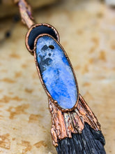 Load image into Gallery viewer, Copper Electroformed Witch Broom Besom Necklace #32