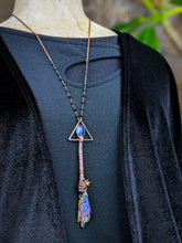 Load image into Gallery viewer, Copper Electroformed Witch Broom Besom Necklace #15