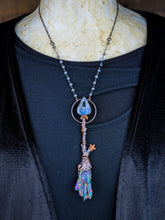 Load image into Gallery viewer, Copper Electroformed Witch Broom Besom Necklace #17