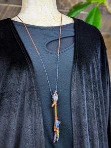 Copper Electroformed Witch Broom Besom Necklace #20
