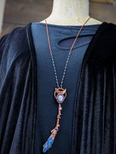 Load image into Gallery viewer, Copper Electroformed Witch Broom Besom Necklace #28
