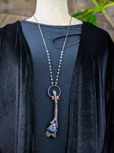 Load image into Gallery viewer, Copper Electroformed Witch Broom Besom Necklace #29
