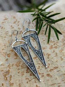Antiqued Silver Plated Earrings III